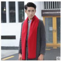简洁大方毛线针织保暖长款青年韩版纯色学生围脖男士围巾