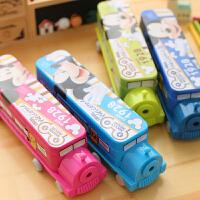 【开学文具】包邮六一儿童节礼品大容量三层文具盒韩国卡通可爱汽车火车铅笔盒