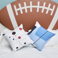 北欧沙发棉麻抱枕靠垫现代简约客厅办公室靠枕靠背腰抱枕套含枕芯