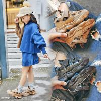 女童冬季儿童鞋男童加绒运动鞋
