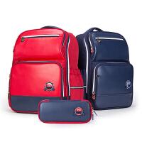 卡拉羊小学生书包校园潮1-3-4-6年级儿童双肩包笔袋套装学生背包CX9608