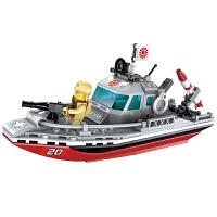 启蒙积木拼装玩具船模型拼插益智力小颗粒飞机拼图