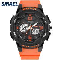 斯麦尔(SMAEL) 手表 男士手表 1645男士双显石英表 运动休闲橡胶带计时夜光防水表