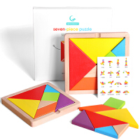 七巧板益智力拼图幼儿童教具小学生用4-6岁7男孩女孩开发木质玩具