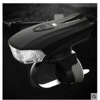 自行车灯感应前灯 usb充电单车灯夜骑LED手电筒配件装备山地车
