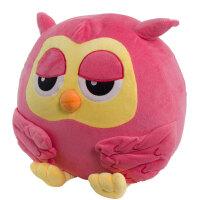 维莱 继承者们猫头鹰娃娃玩偶暖手抱枕/靠垫毛绒玩具公仔生日礼物 粉红 50cm
