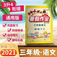 2021黄冈小状元暑假作业三年级语文通用版小学暑假作业3年级语文暑假作业可搭配教材使用假期作业