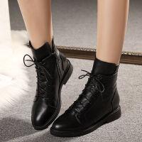 2019秋冬季新款短靴中跟女靴子平跟女鞋舒适休闲马丁靴