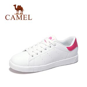 Camel/骆驼女鞋 运动板鞋  新春款休闲透气耐磨女士时尚小白鞋