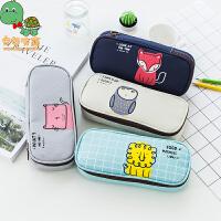 乌龟先森 笔袋 儿童新款韩版个性大容量汽车造型多功能创意帆布学生文具盒创意文具