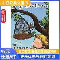 进口英文原版The Canary Caper A to Z 神秘案件 #3 金丝雀谜团【6-12岁】