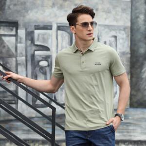8025夏装新款战地吉普AFSJEEP翻领纯棉弹力半袖polo衫 男士短T恤