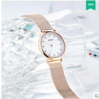 精美镶嵌刻度表盘小巧精致女士石英表韩版清新女生水钻手表防水手表