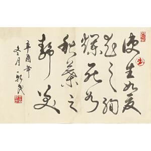 书法家作品生如夏花之绚烂, 死如秋叶之静美GSF0247