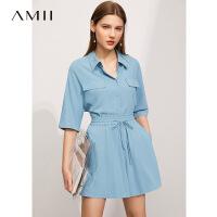 【2件3折148元,再叠90/70/30元礼券】Amii极简衬衫 女2021年夏季新款小个子时尚休闲衬衫上衣