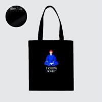 朕知道了故宫博物院创意旅游纪念品礼品购物袋单肩学生帆布包