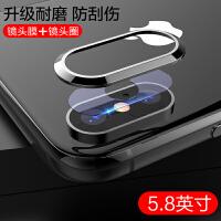 苹果X镜头膜iPhone X全屏钢化膜xs后膜iPhoneXsMax后置摄像头保护圈X手机背膜iPh