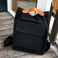 2018新款双肩包女学生背包学院风帆布书包女款文艺范休闲韩版旅行包包
