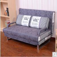 多功能沙发床折叠布艺可拆洗单双人书房沙发1.5小户型简约金属