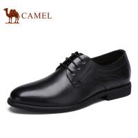 Camel骆驼男鞋 男休闲鞋子商务正装皮鞋系带办公室德比鞋