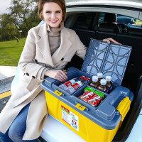 汽车后备箱储物箱车载收纳箱尾箱整理箱车用箱盒置物杂物车内用品3lp