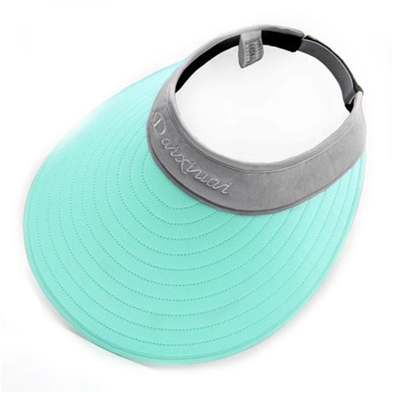 女夏天遮阳帽折叠沙滩帽骑车太阳帽遮脸防晒帽大沿帽