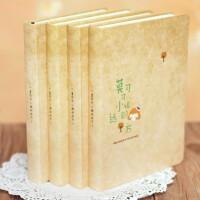 韩国复古唯美彩页插画笔记本创意女学生心情日记事本文具可爱本子
