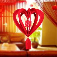 花球喜字创意婚房装饰结婚新房布置婚庆用品婚礼挂饰