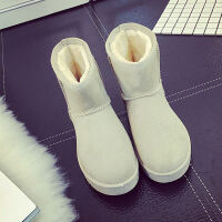女鞋雪地靴女2019秋冬新款棉靴橡胶加绒保暖防滑短筒中筒靴子学生