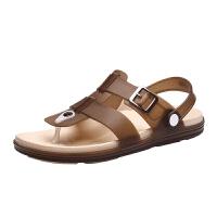 凉拖鞋男2019新款夏季洞洞鞋潮流外穿凉鞋包头拖鞋软底沙滩鞋