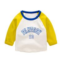 宝宝T恤春装1岁男新生儿衣服拼接儿童上衣女童打底衫婴儿上衣春秋