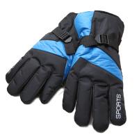 冬季男士保暖滑雪手套防寒摩托车骑车女士冬天防风加绒棉手套