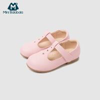 【满200减130】迷你巴拉巴拉女童公主鞋秋新款童鞋时尚软底儿童包头女单鞋