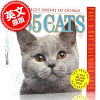 现货 2020年日历 365只猫 一天一页 英文原版 365CATS Page-A-Day Calendar 2020