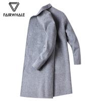 马克华菲大衣男2018冬季中长款休闲羊毛毛呢大衣英伦呢子外套潮流