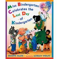 吴敏兰书单英文原版绘本 Miss Bindergarten Celebrates the Last Day of Ki
