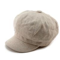 帽子女士秋冬天毛呢贝雷帽鸭舌帽八角帽