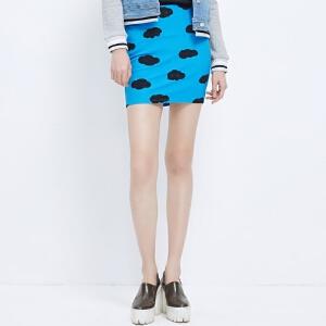【2件2.5折到手价:4.75】美特斯邦威夏装女装包臀半裙258170庥