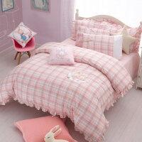 儿童四件套卡通纯棉三件套公主风学生床品全棉被套床单