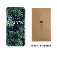 iphone6/7plus手机壳文艺X苹果8/6splus钢化玻璃手机壳xr/XS max