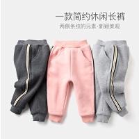 女童裤子冬季休闲裤保暖儿童长裤运动裤宝宝冬装