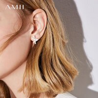 【到手价:70元】Amii[极简主义]个性 字母铜镀耳钉 新款轻奢百搭耳饰