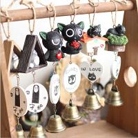 创意学生工艺礼品宫崎骏动漫龙猫风铃小挂饰树脂公仔挂件装饰车饰 玩具