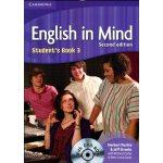 剑桥中学英语教材 English in Mind Student's Book 3 With DVD-ROM学生用书附