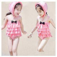 韩国裙式连体儿童游泳衣 女童宝宝泳装 送泳帽 小孩游泳衣