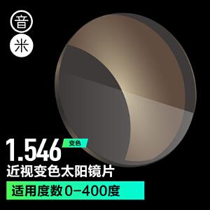 日本进口!加硬膜变色轻薄镜片 防紫外线近视镜片1.56极速纤维镜3015A