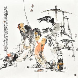 山东省美术家协会会员 李东献《煮茶图》gr01111