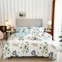 家纺床上四件套全棉纯棉宿舍1.8米床夏季简约被套床单1.5m床