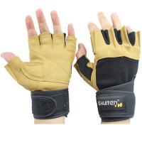 健身手套男士 运动手套 器械训练 哑铃单杠 半指手套加长护腕