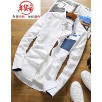 长袖衬衫男修身韩版青少年格子衬衣学生时尚休闲秋冬加绒加厚保暖